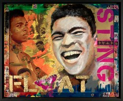 Ali by Dan Pearce - Original Glazed Mixed Media on Board sized 39x31 inches. Available from Whitewall Galleries